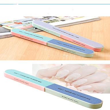 ネイルファイルサンダー記事6面研磨ファイルマニキュアキットは爪* 4本/セットを研削両面初心者を印刷します