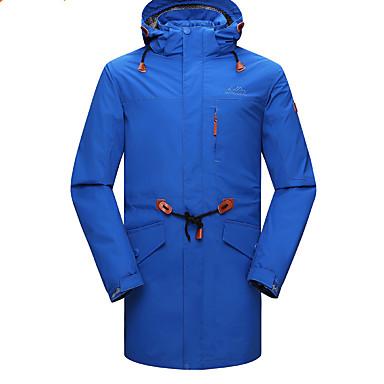 Herrn Skijacke warm halten Windundurchlässig Herausnehmbarer Fleece Windjacken Winterjacken Oberteile Chinlon Skikleidung Winterkleidung