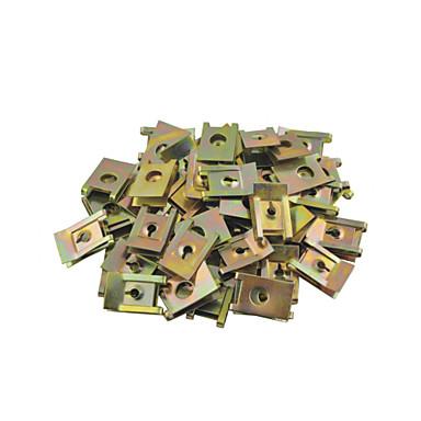 50 adet yaylı metal kabin kapısı paneli sivri vida u-tipi klipleri çapı 6mm