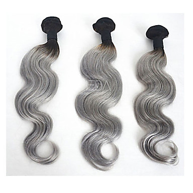 Brazilian Hair Classic Body Wave Human Hair Weaves 3 Pieces High Quality 0.3 Daily