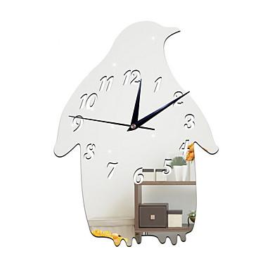 コンテンポラリー 伝統風 カジュアル 休暇 誕生日 壁時計,ノベルティ柄 メタル 屋内 クロック