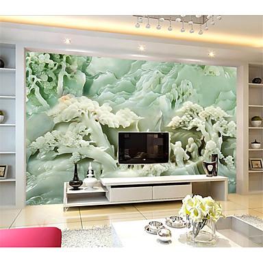 フローラル柄 / アールデコ調 / 3D ホームのための壁紙 現代風 ウォールカバーリング , キャンバス 材料 接着剤必要 壁画 , ルームWallcovering