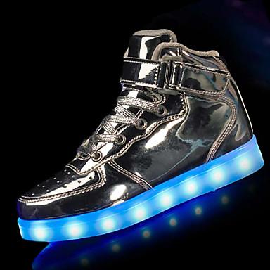 povoljno LED Cipele-Dječaci PU Atletičarke tenisice Mala djeca (4-7s) Udobne cipele / Svjetleće tenisice Crn / Srebro / Crvena Zima / TR