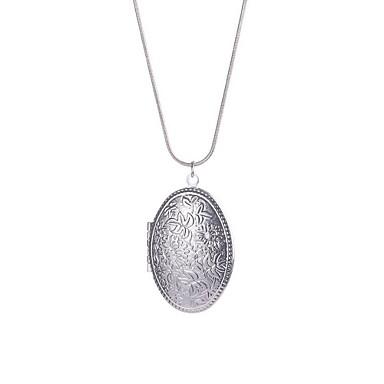 Naisten Riipus-kaulakorut Korut Circle Shape Sterling-hopea Yksinkertainen Pyöreä pukukorut Korut Käyttötarkoitus Päivittäin Kausaliteetti