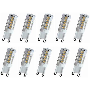 10pcs 240-280lm E14 / G9 / G4 LED-lamper med G-sokkel T 33LED LED perler SMD 2835 Dekorativ Varm hvit / Kjølig hvit 220V / 110V / 220-240V