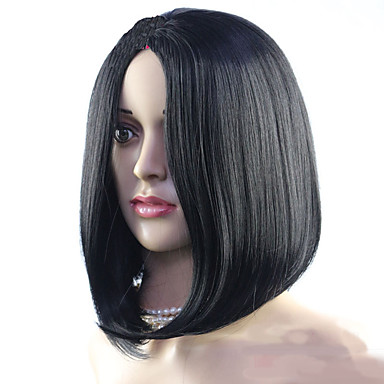 Syntetiske parykker Lige Syntetisk hår Paryk Dame Lågløs