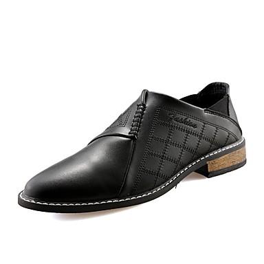Miesten kengät PU Talvi Comfort Oxford-kengät varten Kausaliteetti Musta Keltainen Punainen