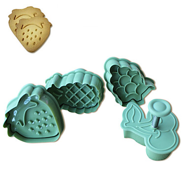 4PCS  Fruit Pattern Cake and Cookie Cutter Mold