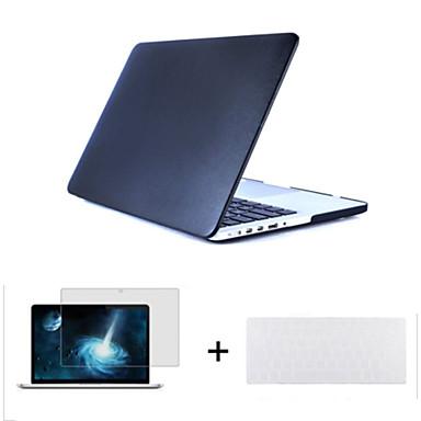 3 1 leatherette üst yüzeyi sert kabuk kapak kılıf + klavye kapağı + macbook hava ekran koruyucusu 11