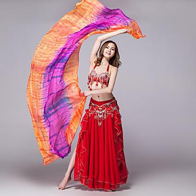 Danse du ventre Voile Accessoires de Scène Femme Entraînement Utilisation Soie Echarpe