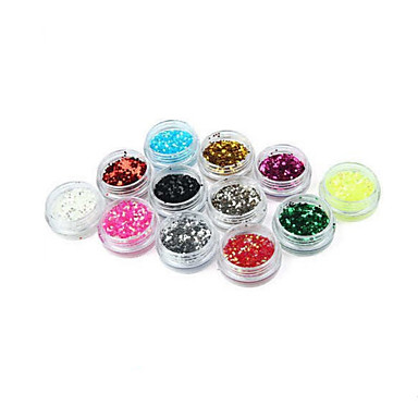 12 Nail Art Decoration tekojalokivi Pearls meikki Kosmeettiset Nail Art Design