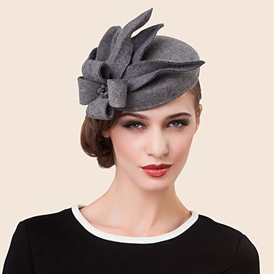voordelige Hoeden-wol strass legering hoeden hoofddeksel klassieke vrouwelijke stijl