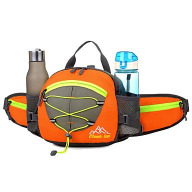 15 L Riñoneras / Bolsa de hombro / mochila - Impermeable, Reflexivo, Resistente a la lluvia Al aire libre Camping y senderismo, Ciclismo / Bicicleta, Viaje Malla, Nailon, Material impermeable Negro