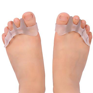 2pcs Transpirabilidad Plantillas Gel Todos los Zapatos Todas las Temporadas Mujer Blanco