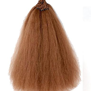 Brasilian yaki suorat hiukset 18 tuuman pre looped kinky suorat hiukset jatko synteettinen yaki virkattu punokset synteettinen punos