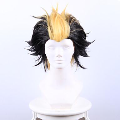 billige Kostymeparykk-Syntetiske parykker / Kostymeparykker Rett Syntetisk hår Svart Parykk Dame Kort Lokkløs
