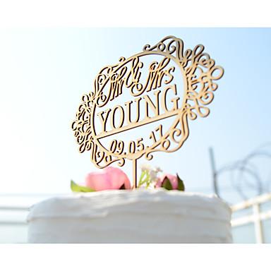 Decorações de Bolo Tema Flores Tema Clássico Tema vintage Tema rústico Casal Clássico Papel de Cartão Acrílico Casamento Com Bolsa Poly