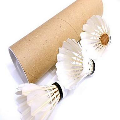 Badminton Bälle(Weiß,Entenfeder) -Dauerhaft