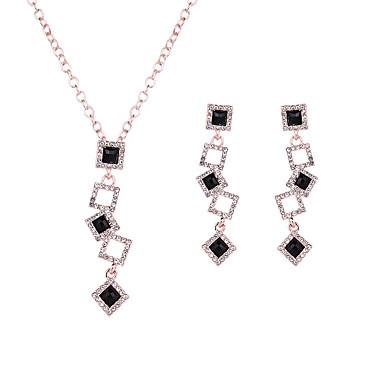 Mulheres Conjunto de jóias - Cristal Incluir Preto Para Casamento / Festa / Diário / Colares