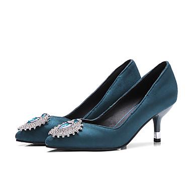 Nubuck à 06501272 Eté Escarpin Cuir Basique Talon Talons Bout Chaussures Chaussures Noir pointu Aiguille Confort Femme Strass Printemps Ezf4wfq