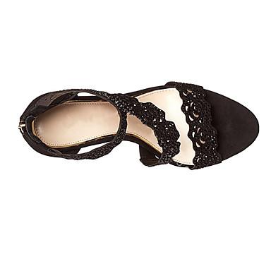 Chaussures Noir ouvert amp; Soirée Bout Femme Rose 05512456 amp; dragée Brillante Soirée clair noir Aiguille Paillette Similicuir Evénement Eté Talon Argent Sandales Evénement 4dvHqcd
