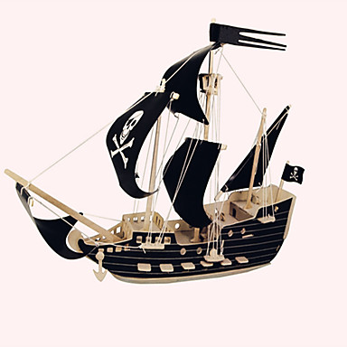 Wooden Puzzle Wooden Model Ship Pirates Pirate Ship Pirate Professional Level Wooden 1 pcs Kid's Adults' Boys' Girls' Toy Gift