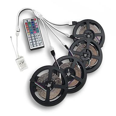 abordables Bandes Lumineuses LED-20m (4 * 5m) 3528 rgb1200 leds bande flexible lumière led bande de lumières de bande non étanche à la lumière 12v avec 44key kit de contrôleur à distance