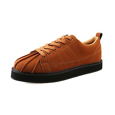 Herren-Sneaker-Lässig-PU-Flacher Absatz-Komfort-Schwarz Braun Grau