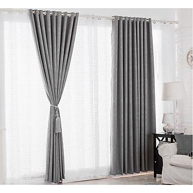 Window Treatment Sammlung Window Treatment Modern , Neuheit Wohnzimmer Leinen-Polyestergewebe Stoff Vorhänge drapiert Haus Dekoration For