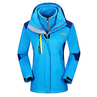 Damen 3-in-1 Jacken Wasserdicht warm halten Windundurchlässig Trainingsanzug für Skifahren Camping & Wandern Freizeit Sport Hinterland