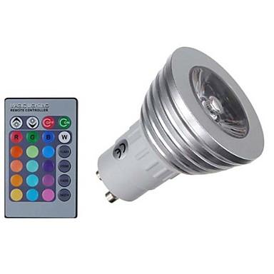 billige Elpærer-KWB 4 W LED-spotpærer 400 lm E14 GU10 GU5.3(MR16) MR16 1 LED perler COB Mulighet for demping Fjernstyrt Dekorativ RGB 85-265 V / 1 stk. / RoHs / CE
