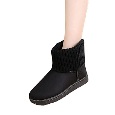 Damen-Stiefel-Lässig-PU-Niedriger Absatz-Komfort-Schwarz Grau Rosa
