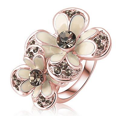 女性 指輪 クリスタル オリジナル ジルコン オーストリアクリスタル 合金 ジュエリー 日常 カジュアル