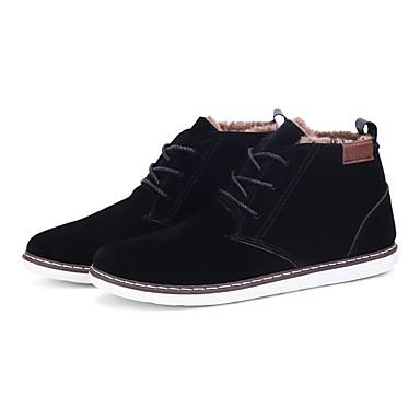 Bootsit-Tasapohja-Miesten-Fleece-Musta Sininen Ruskea Keltainen-Rento-Comfort