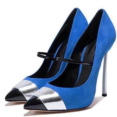Boucle pointu Bleu à Habillé Chaussures 05509957 Rouge Talon Talons Aiguille Chaussures Eté Printemps Combinaison Bout Similicuir Femme Zxw6PqvX