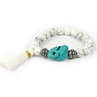 Damen Strang-Armbänder Perlenbesetzt Edelstein Achat Schmuck Für Normal