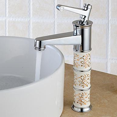 Waschbecken Wasserhahn - Verbreitete Chrom Mittellage Einhand Ein Loch