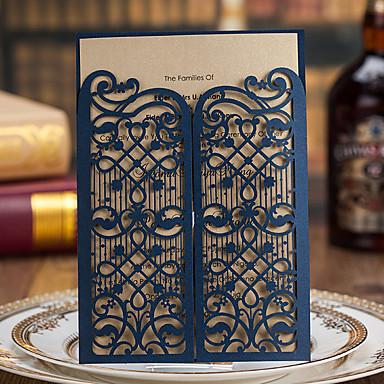 Dupla Dobra-Portão Convites de casamento 50 - Cartões de convite Estilo Clássico Papel de Cartão