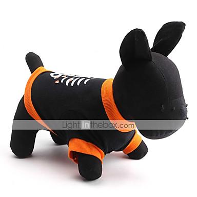 katten / honden T-shirt Zwart Hondenkleding Lente/Herfst Doodskoppen