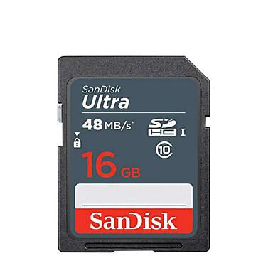 abordables Cartes Mémoire-SanDisk 16Go carte SD carte mémoire UHS-I U1 Class10 Ultra