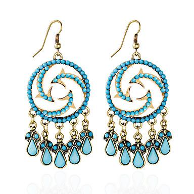 Mujer Opal sintético Pendientes cortos / Pendientes colgantes / Pendiente - Ópalo Azul / Arco iris Para Diario