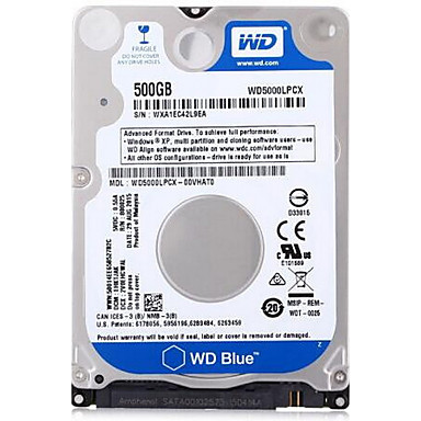 WD 500GB Laptop / Notebook disco rígido 5400rpm SATA 3.0 (6Gb / s) 16MB esconderijo 2.5 polegadas-WD5000LPCX