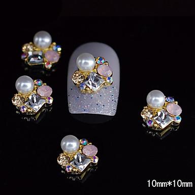 10pcs aur unic din aliaj 3d unghii stras decorare unghii DIY art