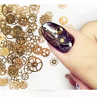 1set مجموعة فن الأظافر مجوهرات الأظافر فن الأظافر تجميل الأظافر والقدمين يوميا ميتاليك / موضة / مجوهلرات الأظافر