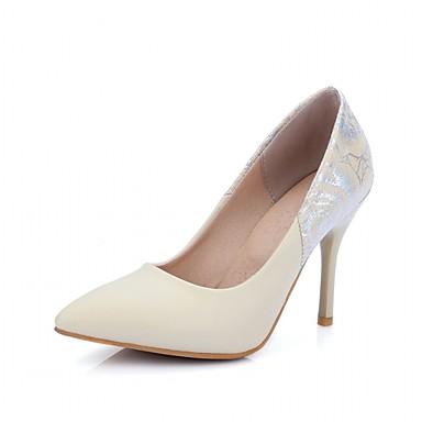 Mulheres Sapatos Couro Ecológico Sintético Verão Outono Inovador Conforto Saltos Caminhada Salto Agulha Dedo Apontado para Casamento