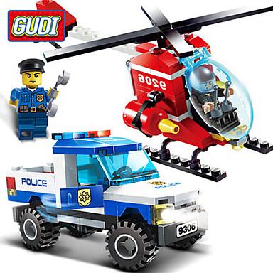GUDI Byggeklosser 175pcs Luftkraft / Faiter profesjonelt nivå / Multifunktion / Kul Gutt Gave