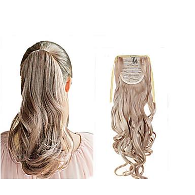 22 pouces # 33 #27/613 12/613 18/613 8/613 Ondulé Queue-de-cheval Synthétique Pièce de cheveux Extension des cheveux