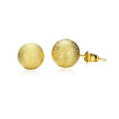 Mulheres Brincos Curtos - Chapeado Dourado Dourado Para Diário / Casual