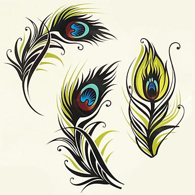 1pc Halloween Tattoo Paste Farbe Tattoo-Aufkleber eine größere Version wasserdicht Feder