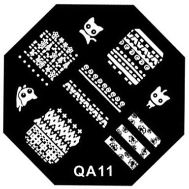 uñas arte del sello de placa plantilla de la imagen de estampado